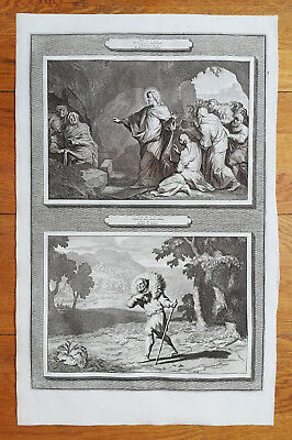 Mortier Original Bible Print The Parable of the Lost Sheep - 1700 - The Lost Sheep Parable
