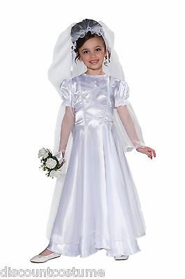 FORUM WEDDING BELLE BRIDE GIRL'S CHILD HALLOWEEN COSTUME SIZE SMALL 69825