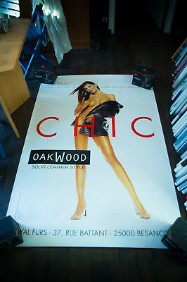 OAKWOOD CHIC Sexy Hot 4x6 ft Shelter Original Fashion Advertising Poster Vintage