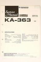 Pioneer Ka-363 Originale Manuale Di Servizio/istruzioni/schema Elettrico O65 - pioneer - ebay.it
