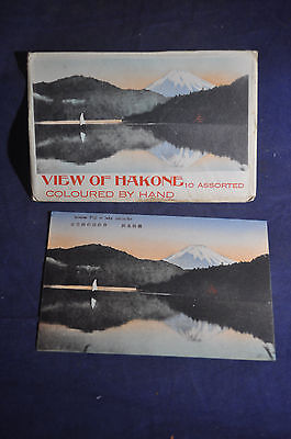 Hand Colored Mount Fuji at Lake Ashinoko Postcard with Envelope! Hakone Japan