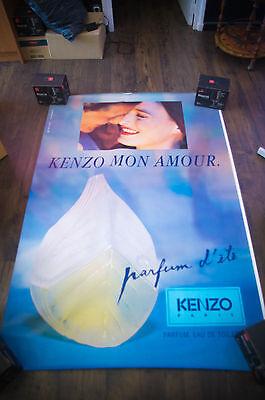 KENZO MON AMOUR Style A 4x6 ft Bus Shelter Original Vintage Fashion Poster 1998