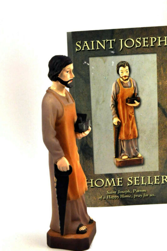 St Saint Joseph House Statue Figurine Set Home Seller Selling Kit