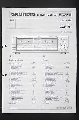 GRUNDIG CCF 301 Original Twin Cassette Deck Service-Manual/Schaltplan/Diagram 85 online kaufen