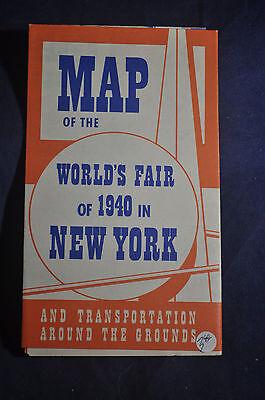 1940 New York Worlds Fair Map by Greyhound