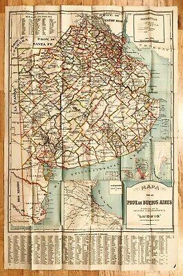 Argentina Map. MAPA DE LA PROV. DE BUENOS AIRES.