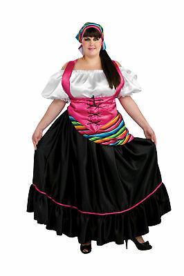 Senorita Spanish Gypsy Mexican Fortune Teller Halloween Plus Size Costume