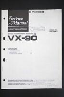 Pioneer Vx-90 Vcr Circuit Description Manual De Servicio/instrucciones/ - pioneer - ebay.es