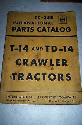 International Harvester T-14 And Td-14 Crawler Tractors Parts Catalog M-1