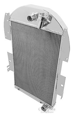 3 Row All Aluminum Performance Radiator For 1934   36 Chevy Truck V8 Conv