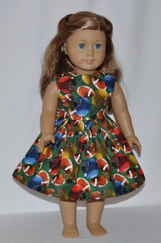 Sunday Football Game Day Doll Dress Clothes Fits American Girl Dolls