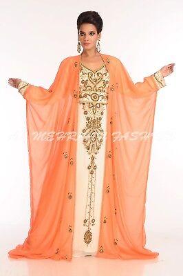 2018 MOROCCAN DUBAI KAFTAN ABAYA JALABIYA JILBAB ISLAMIC PARTY WEAR DRESS 6058