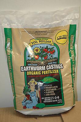 4.5 Lb. Wiggle Worm Soil Builder Earthworm Castings OMRI Listed Organic Fert.