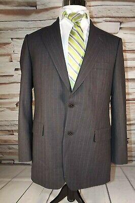 Brooks Brothers 346 Stretch Mens Suit Jacket Blazer Sports Coat SZ 40R Grey Pins
