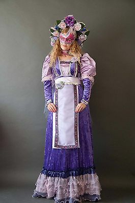 Renaissance flower goddess - Gown, Headdress, Mask, Choker. One of a kind $98. - Renaissance Goddess