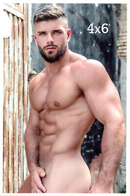 Bare Chest Barechested Male Beard Amazing Hard Body Muscles Nipples 4x6 Photo