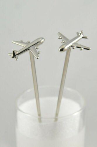 Viski Irving Stainless Steel Airplane Highball Stir Sticks - Set of 2