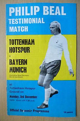 1973 Philip Beal Testimonial Match- TOTTENHAM HOTSPUR v BAYERN MUNICH, 3 Dec