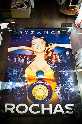 ROCHAS BYZANCE 4x6 ft Bus Shelter Original Fashion Vintage Poster 1992