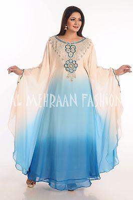 ELEGANT FARASHA FANCY JILBAB ARABIAN DUBAI ABAYA WEDDING GOWN DRESS  500