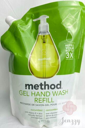 Method Gel Hand Wash Refill Pouch, Sea Mineral, 34 fl oz