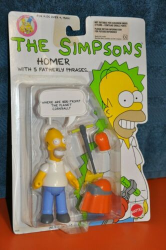 "The SIMPSONS 1990 MATTEL ""HOMER SIMPSON"" ACTION FIGURE (MOC)"