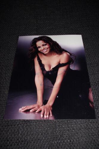 JANET JACKSON signed Autogramm auf SEXY 20x25 cm Foto InPerson LOOK