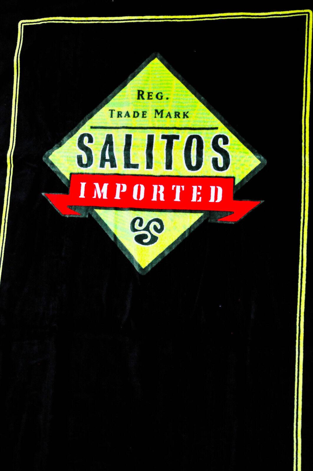 Salitos Bier, Badelaken, Strandtuch, Saunatuch, schwarz, sehr edel..