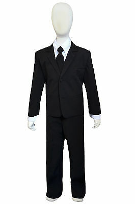 boys slenderman costume suit for halloween kids of all ages suit only no mask - Halloween Costume Slender Man