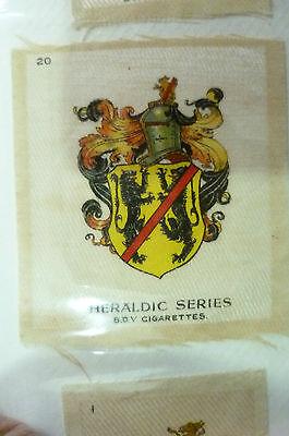 B.D.V. Cigarettes Silk- HERALDIC SERIES, No.20 (Org*, apx. 7x6 cm)