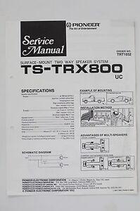 Pioneer-ts-trx800-2-Way-Altavoz-Sistema-MANUAL-DE-SERVICIO-Instrucciones