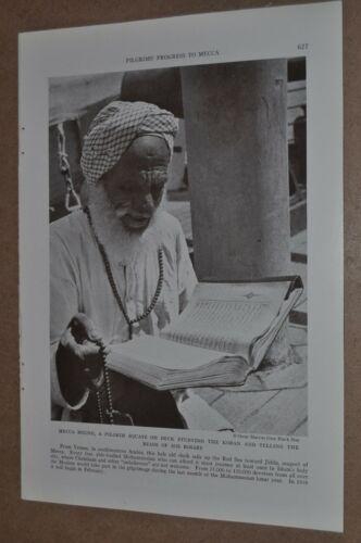 1937 MOSLEM pilgrimage to MECCA magazine photo article, Muslim