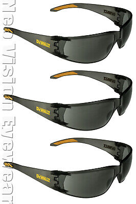 3 Pairpack Dewalt Rotex Smokegray Safety Glasses Sunglasses Lightweight Z87
