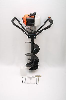 Hand-held Post Hole Digger Earth Auger W 10 Dia. Bit 43cc 1.75hp Gas Engine