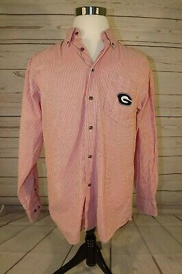 Georgia Bulldogs Three Square Royce Apparel  Mens shirt - Size L  Long Sleeve (Georgia Square)
