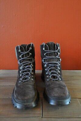 PRADA Hiking Boots - Chocolate Brown Suede - European size 38.5
