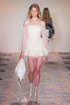 Alice McCall Runway All Things Nice Ruched Tulle Mini Dress UK 14