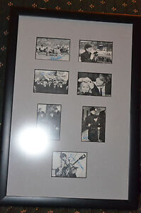 Autographed Beatles photographs in frame