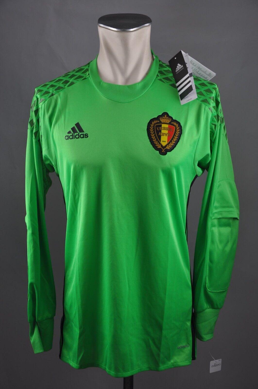 Belgien Trikot Torwart Gr. S / M / L grün Adidas Adizero 2015 KBVB Shirt Belgium