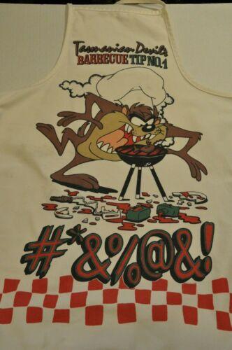 Vintage TAZ Looney Toons Tasmanian Devil BBQ Tips Apron 1993 90s VTG WB