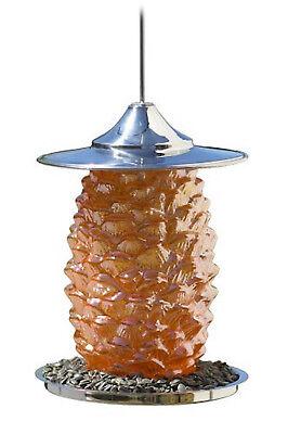 Bird Brain Pine Cone Bird Feeder Orange-Brand New in - Bird Brain Glass Feeder