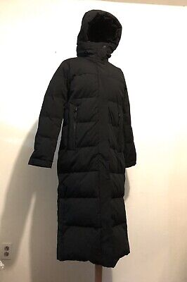 NWOT MICHAEL KORS Womens S Black Down Maxi Puffer Coat w/ Hood