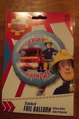 FIREMAN SAM HAPPY BIRTHDAY FOIL BALLOON  17 in 43 cm  NEW  PARTY XL  - Fireman Balloons