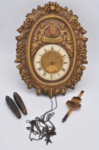 Vintage E. Schmeckenbecher Cuckoo Clock West Germany In Vino Veritas