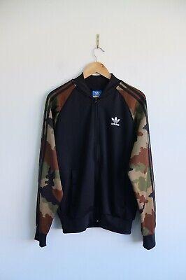 Adidas Originals Camo Camouflage tracksuit jacket M Black Green Brown Track