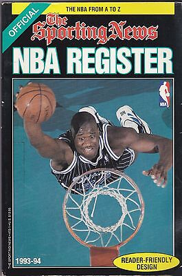 1993-94 SPORTING NEWS OFFICIAL NBA BASKETBALL REGISTER  FREE SHIPPING IN THE USA