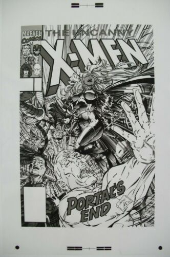 Original Production Art UNCANNY X-MEN #285 cover, WHILCE PORTACIO, ART THIBERT