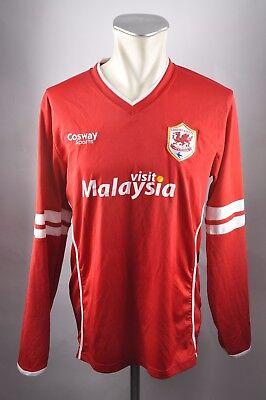 Cardiff City FC Trikot 2014-15 Jersey Gr. L cosway Malaysia rot Shirt   image