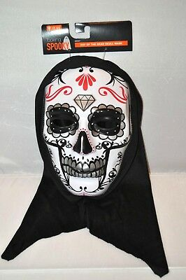 Day of the Dead Skull Mask Silver Halloween Decoration Party Adult Costume NEW (Halloween Party Decor Adults)
