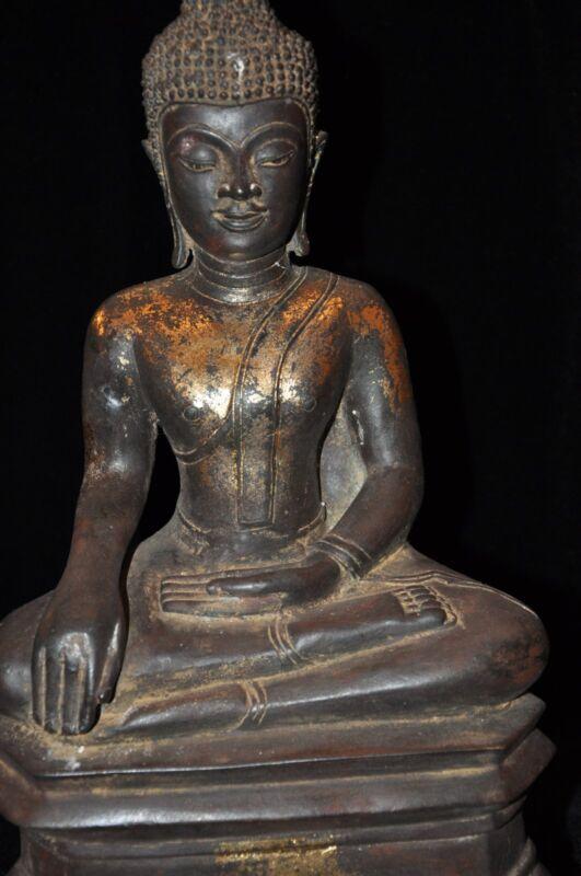 THAI SUKHOTHAI STYLE BRONZE BUDDHA